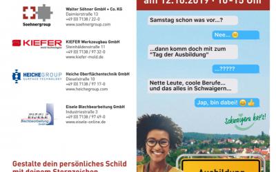 Tag der Ausbildung in Schwaigern – 12.10.2019 10-15 Uhr