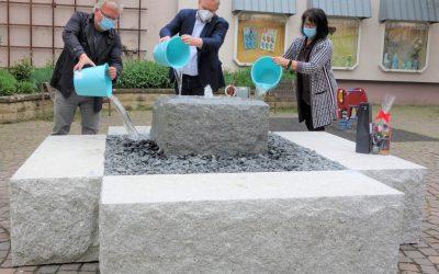 Wasserspiel am Marktplatz eingeweiht